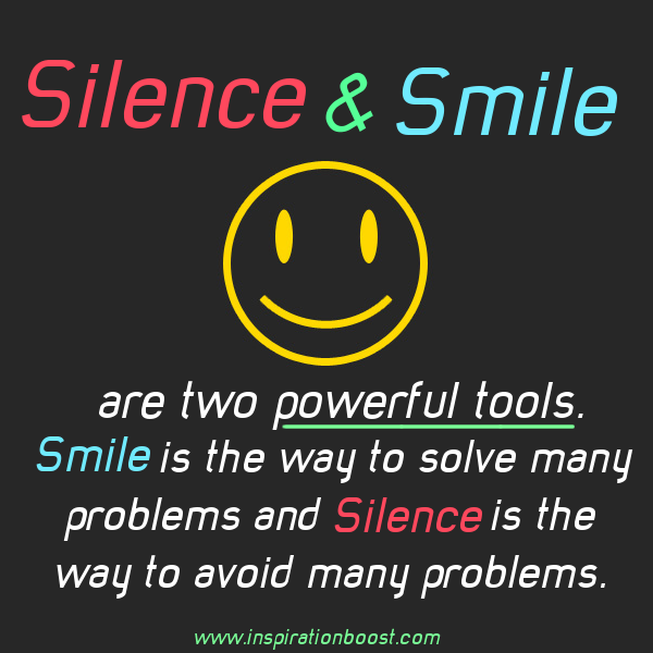 Quotes On Smile Gorgeous Silence And Smile Quote  Inspiration Boost