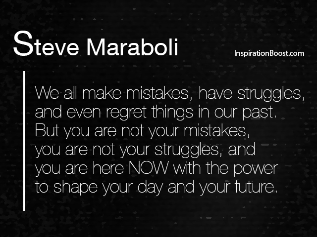 Steve Maraboli Regrets Quotes