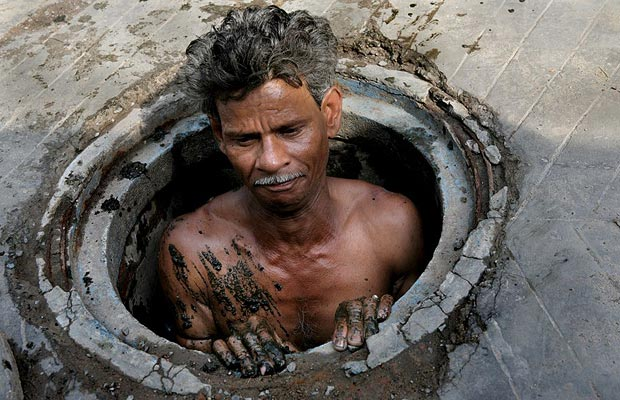 Indian Sewer man