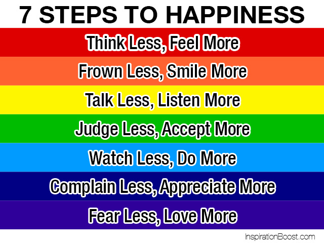 Good Seven Steps To Happiness Step Seven Happiness
