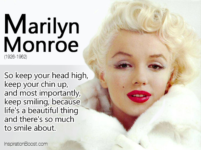 A Quote About Life Stunning Marilyn Monroe Life Quote  Inspiration Boost