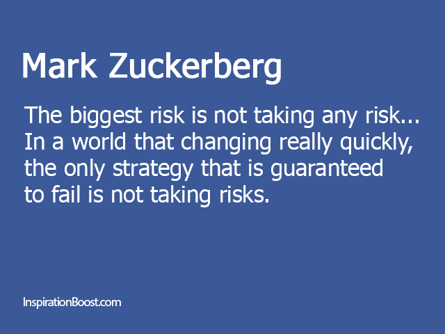 Risk Quotes Fascinating Mark Zuckerberg Quotes  Inspiration Boost