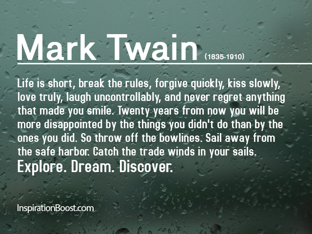 Quotes Inspirational Enchanting Mark Twain Inspiring Quotes  Inspiration Boost