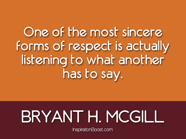 Bryant H. McGill Respect Quotes