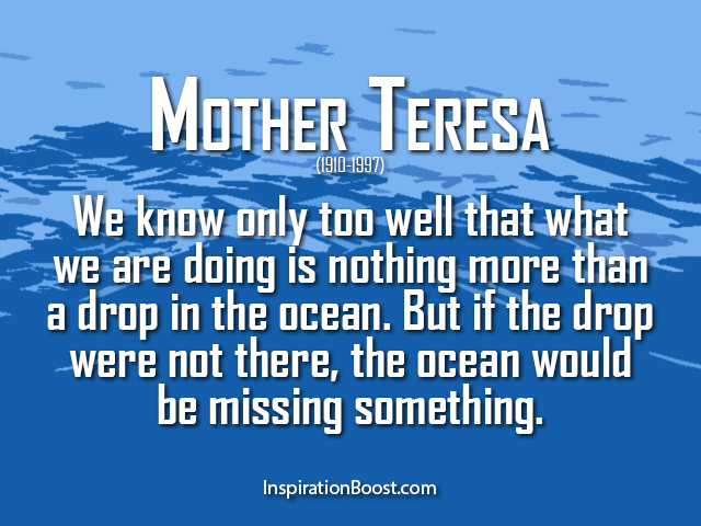 Quotes About Donating Unique Mother Teresa Action Quotes  Inspiration Boost
