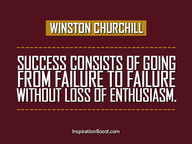 Winston Churchill Quote Success Failure