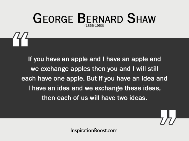 George Bernard Shaw Sharing Quotes