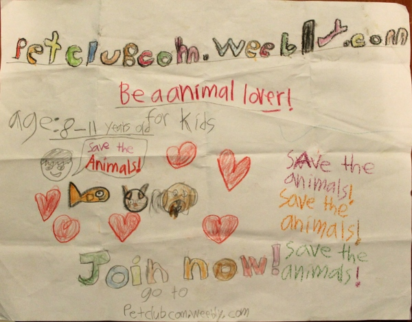 Poster drew by Ken 2 - Happy Animals Club