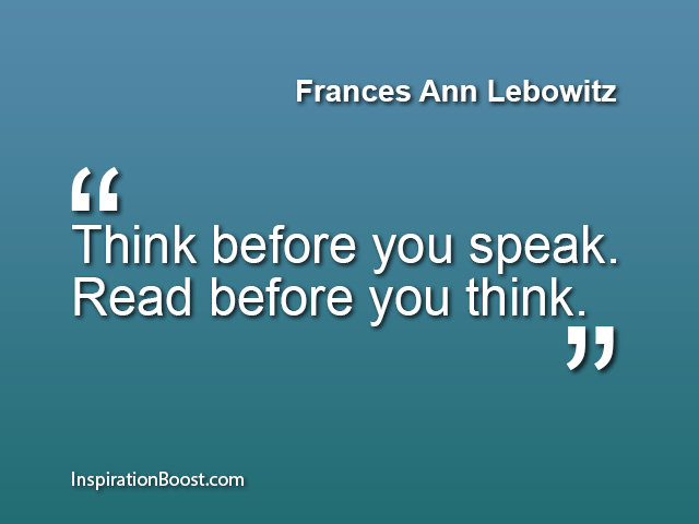 Frances Ann Lebowitz Quotes
