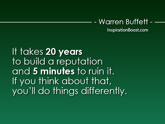 Warren Buffett Reputation Quotes