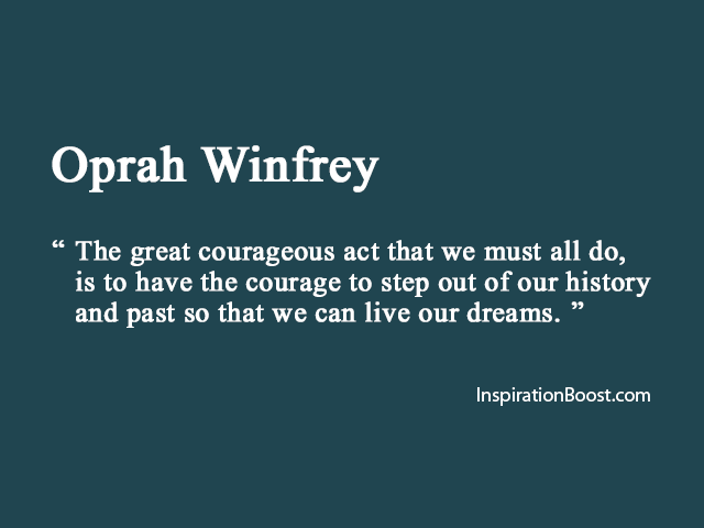 Moving On Quotes by Oprah Winfrey