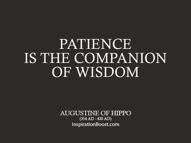 Saint Augustine Patience Quotes