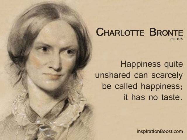 Charlotte Bronte Happiness Quotes