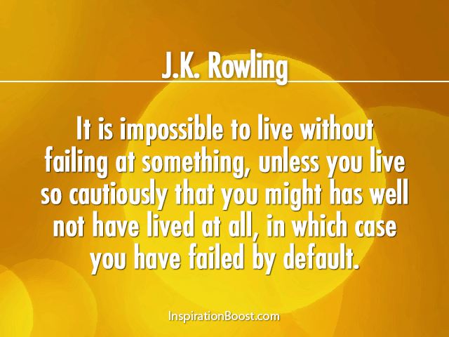 J K Rowling Famous Life Quotes