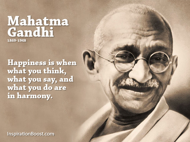 A Quote About Happiness Fair Mahatma Gandhi Happiness Quotes  Inspiration Boost