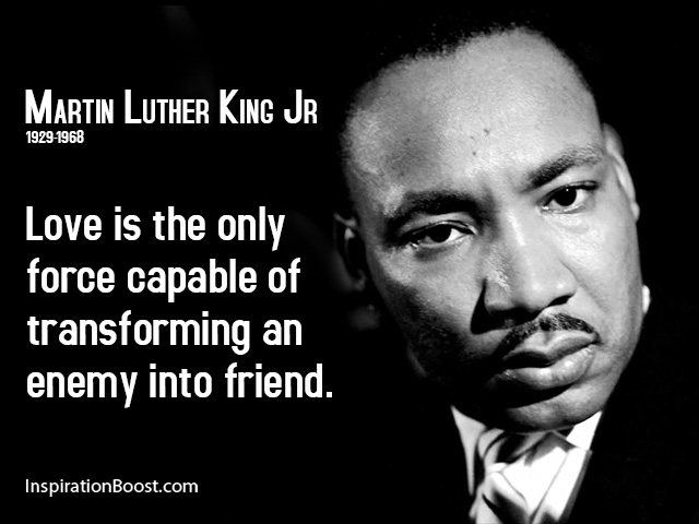 Images Of Martin Luther King Quotes Entrancing Martin Luther King Jr Love Quotes  Inspiration Boost
