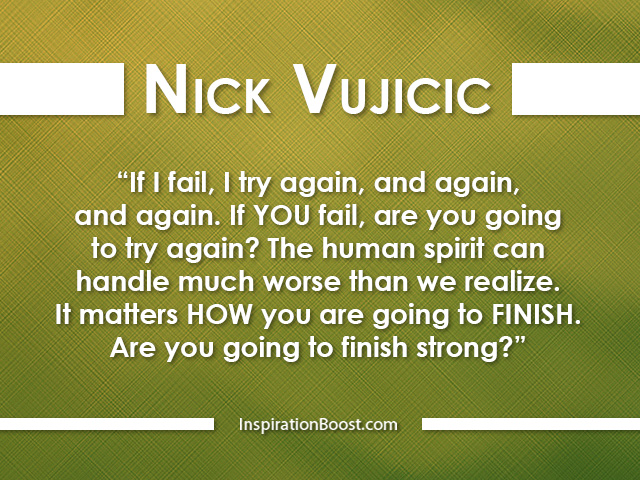Nick Vujicic Inspiring Quotes