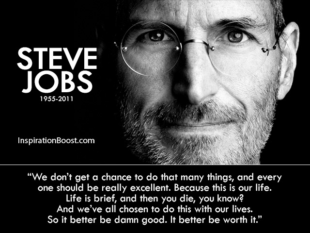 Steve Jobs Life Motivational Quotes
