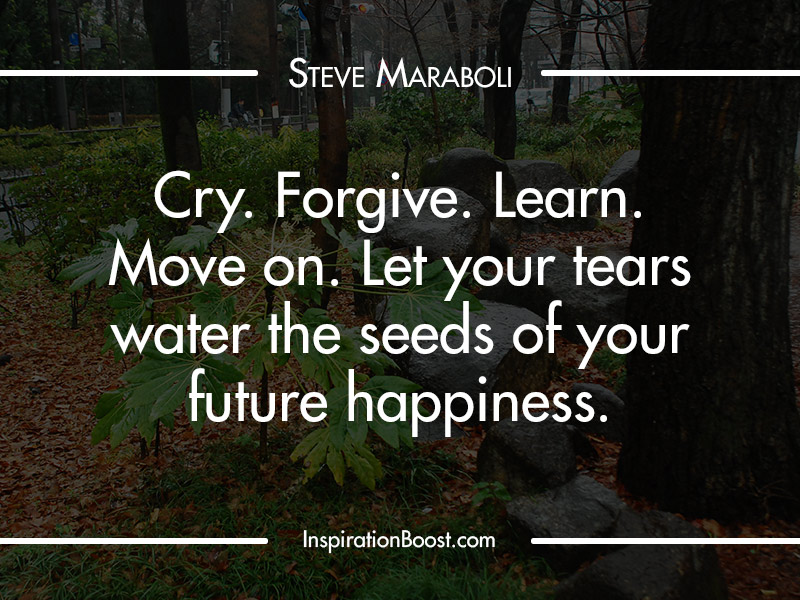 Steve Maraboli Move on Quotes