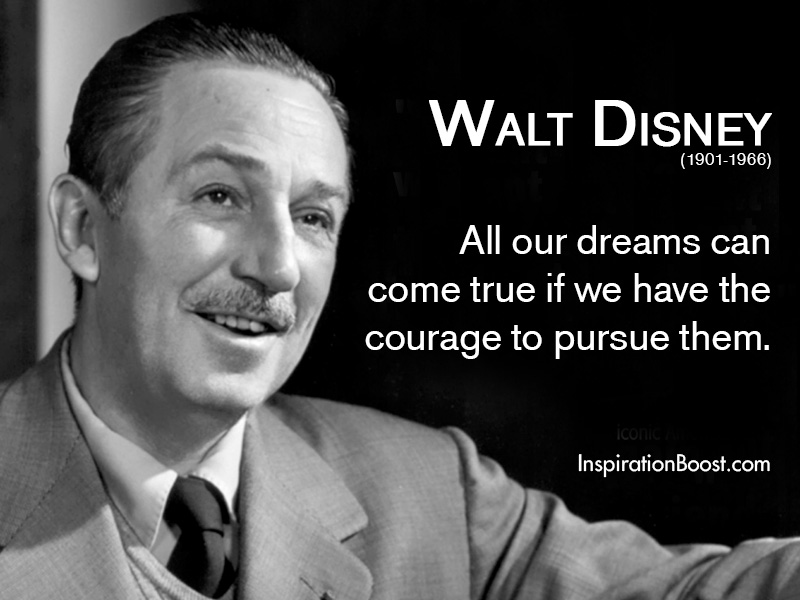 Walt Disney Quotes About Life Mesmerizing Walt Disney Dream Quotes  Inspiration Boost