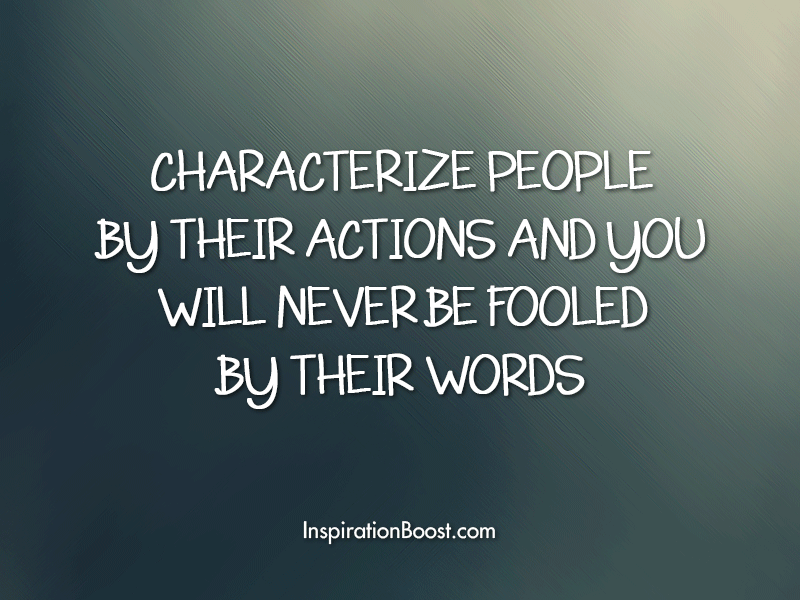 Action vs Words Quotes