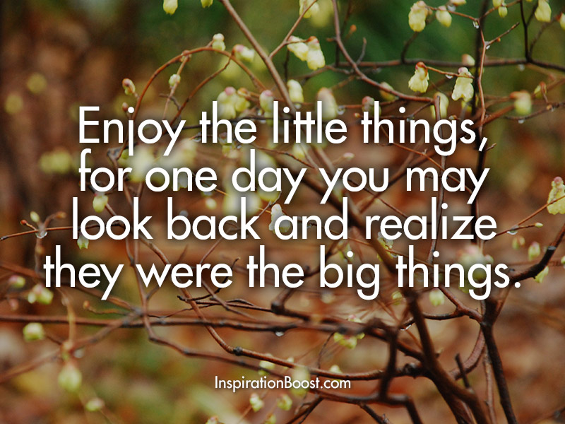 Robert Brault Enjoy Little Thing Quotes