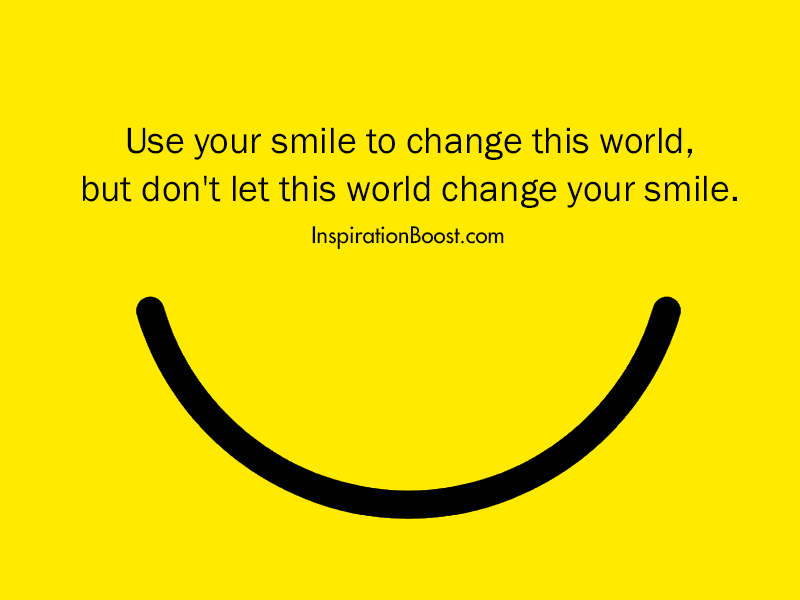 Smile Change the World Quotes