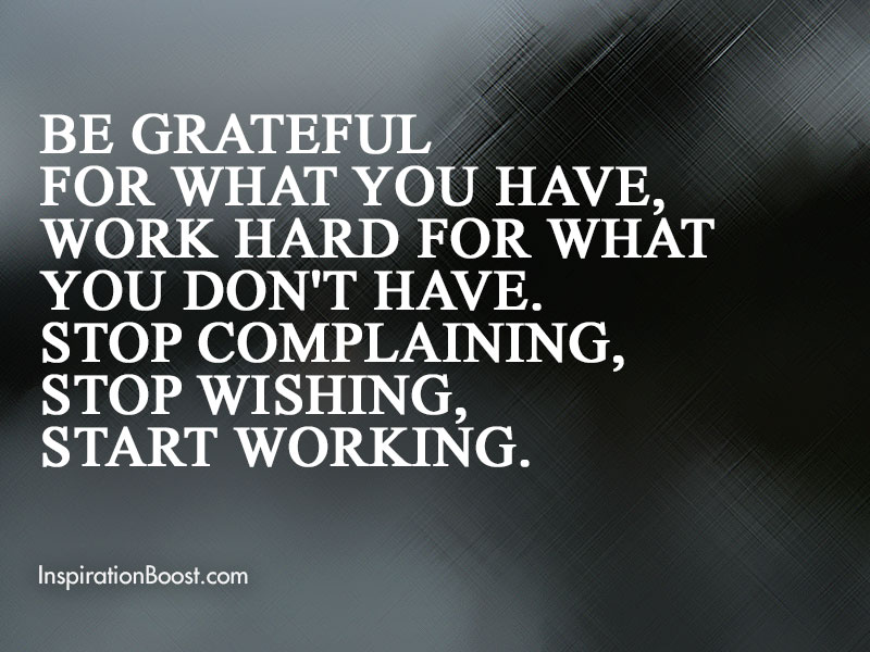 Gratitude on What You Have Quotes