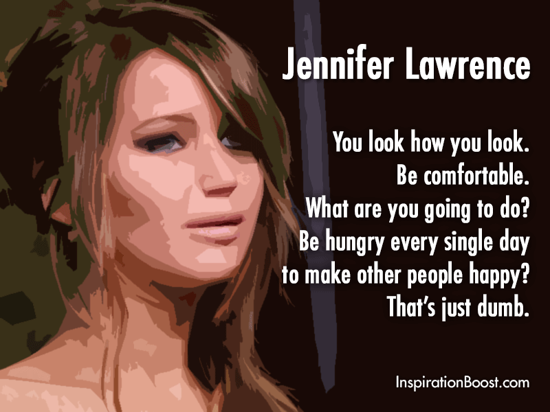 Jennifer Lawrence Quote to Every Woman