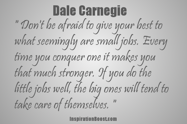 Dale Carnegie's Quote | Inspiration Boost