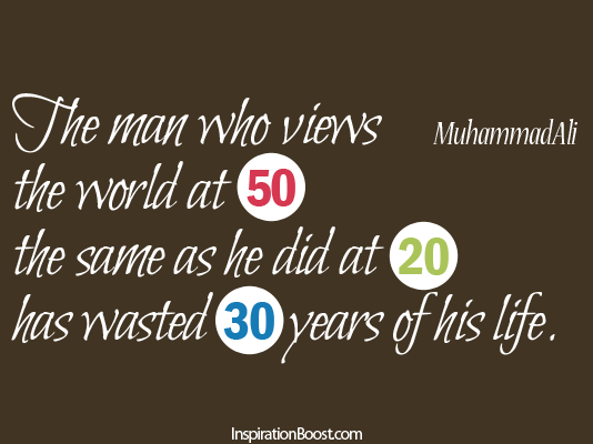 Waste Of Life Muhammad Ali Inspiration Boost