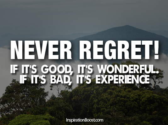 Inspirational Life Quotes Regret