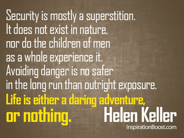 Helen Keller Quotes Inspiration Boost