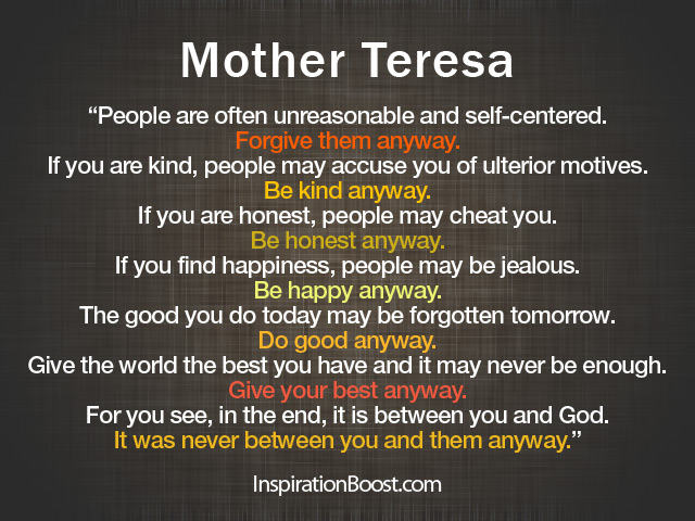 Mother Teresa Quotes | Inspiration Boost