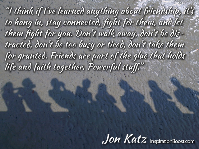 Jon Katz Friendship Quotes Inspiration Boost