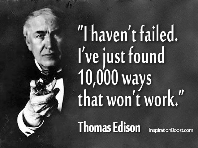 thomas edison citater Thomas Edison Quotes | Inspiration Boost thomas edison citater