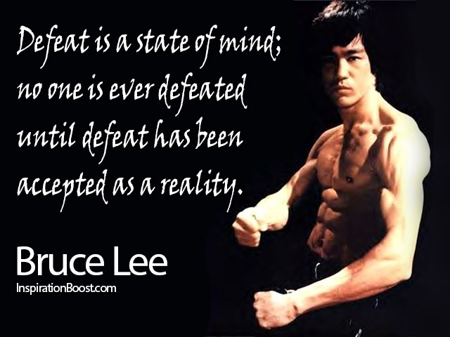 bruce lee defeat quotes