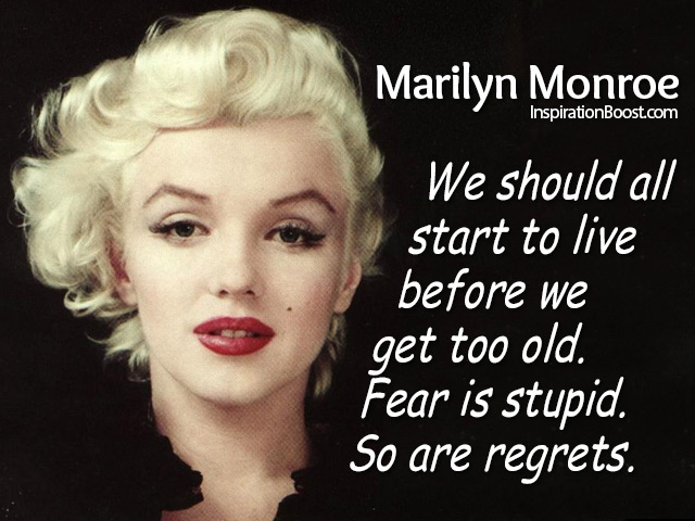 Marilyn Monroe Live Quotes Inspiration Boost