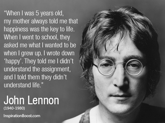 Happy Quotes John Lennon Inspiration Boost