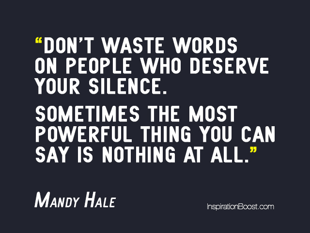 Mandy Hale Silence Quotes Inspiration Boost