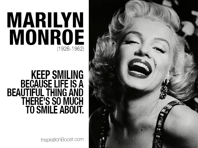 Marilyn Monroe Smile Quotes | Inspiration Boost