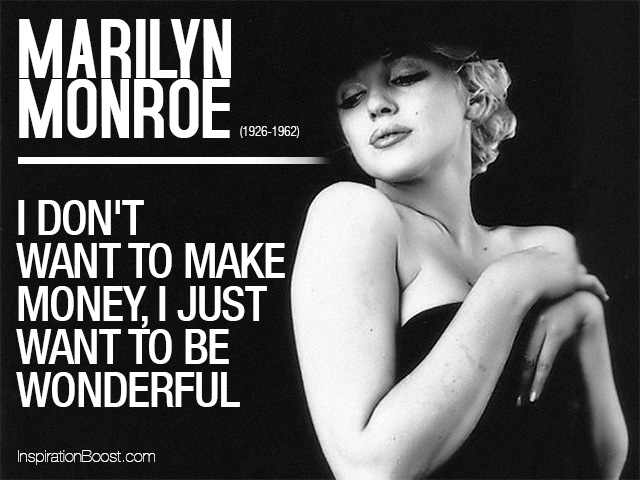 Marilyn Monroe Wonderful Quotes Inspiration Boost
