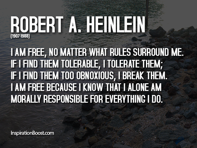 Robert Heinlein Quotes | Break The Rules Quotes Inspiration Boost