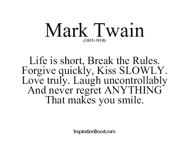 Mark Twain Life Quotes Inspiration Boost