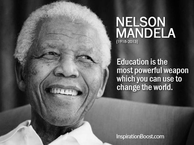 Citaten Nelson Mandela : Nelson mandela education quotes inspiration boost