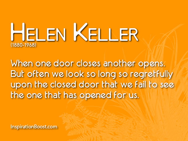 Helen Keller Opportunity Quotes Inspiration Boost