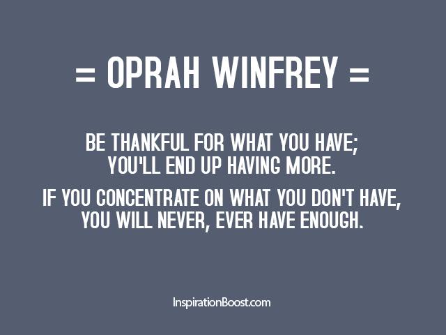 Oprah Winfrey Appreciate Quotes Inspiration Boost