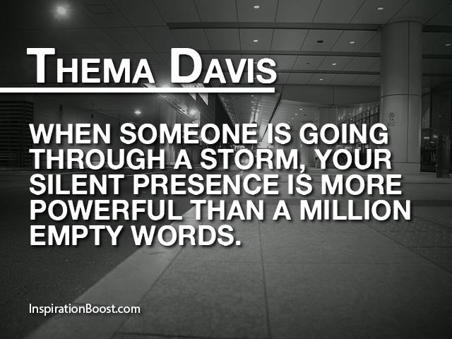 Thema Davis Silent Quotes Inspiration Boost