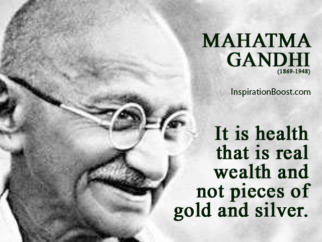 mahatma gandhi health quotes inspiration boost