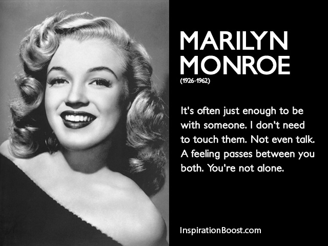 Marilyn Monroe Relationship Quotes Inspiration Boost